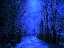 magical snowy night